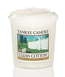 Svíčka votiv, YANKEE CANDLE, Clean Cotton