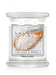 KRINGLE CANDLE DUFTKERZE MEDIUM 411 G – SEA SALT&TONKA