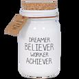 MY FLAME VONNÁ SVÍČKA - DREAMER BELIEVER WORKER ACHIEVER - FIG'S DELIGHT