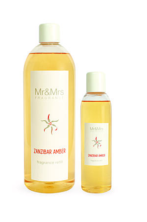 MR&MRS FRAGRANCE NÁPLŇ DO DIFUZÉRU - ZANZIBAR AMBER, 200 ML