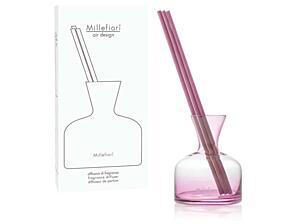 Designový tyčinkový difuzér Millefiori - Vase růžový, 250 ml